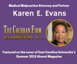 DC medical malpractice lawyer Karen Evans features as distinguished ECU alum
