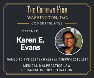 Best DC medical malpractice lawyer Karen Evans of The Cochran Firm