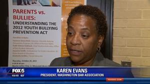 Karen Evans on Fox 5 DC discussing DC's bullying laws
