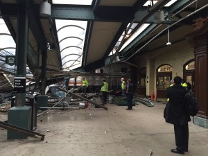 Train crashes into Hoboken, NJ passenger terminal